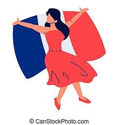 french woman dancing