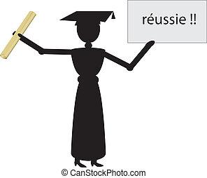 french woman graduate