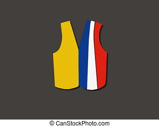 French yellow vest paper art animation