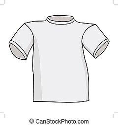 frente, camiseta, vista