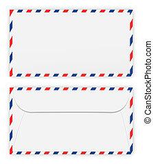 frente, envelope, costas
