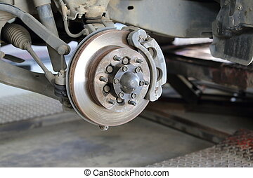 frente, freio, disco, montagem, reparar