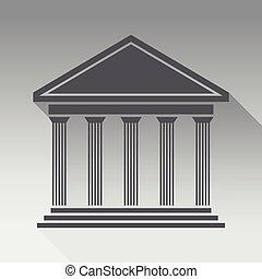 frente, Grego, Templo