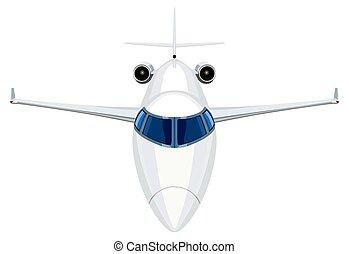 frente, jato, avião