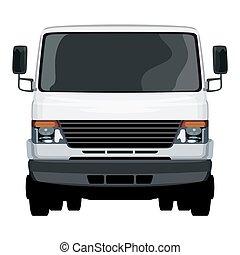 frente, luz, caminhão