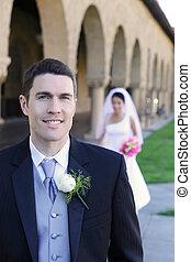 frente, noivinhos, casório