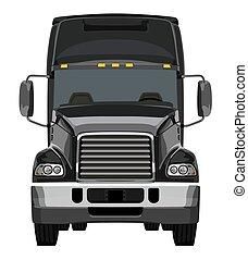 frente, pretas, caminhão
