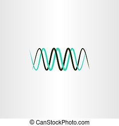 frequency wavelength logo vector symbol - frequency...