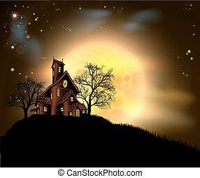 frequentato, halloween, casa