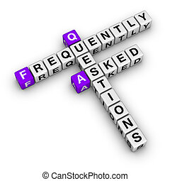 Frequently Asked Questions crossword puzzle isolated on...