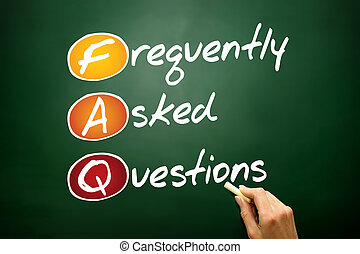 Frequently Asked Questions (FAQ), business concept acronym on blackboard