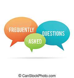 Frequently Asked Questions Talk Bub - Vector illustration of...