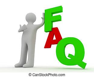 frequently, concepto, preguntado, preguntas