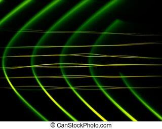 frequenz, abstrakt, schleife, grün, -, sd