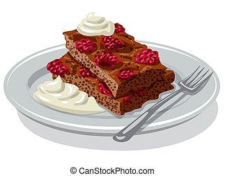 fresa, brownie