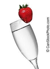 fresa, champaña