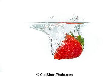 fresa, en el agua