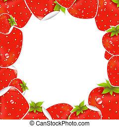 fresa, marco, etiqueta