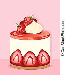 fresa, pastel de queso