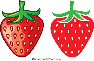 fresa, vector, ilustración