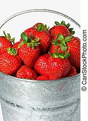 fresas frescas, orgánico