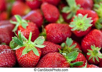 fresas, rojo