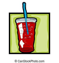 fresco, arte, clip, soda