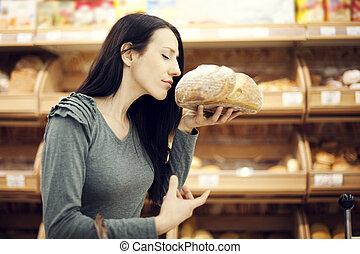 fresco assado, pão
