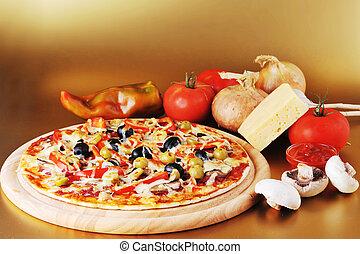 fresco assado, pizza