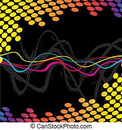 fresco, audio, ondas