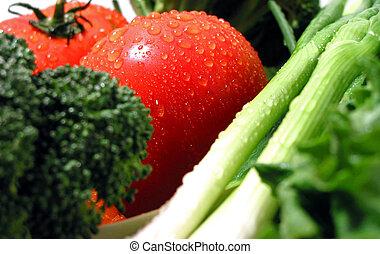 fresco, bagnato, verdura