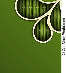 fresco, bambú, plano de fondo