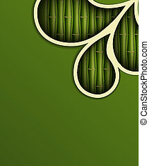 fresco, bambu, fundo