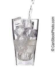 fresco, bebida, fundo, gelo, soda