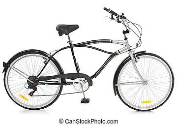 fresco, bicicletta, sopra, sfondo bianco