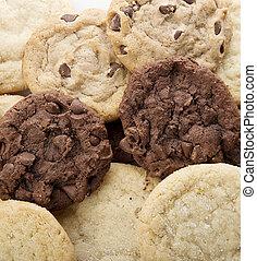 fresco, biscotti, mucchio, zucchero