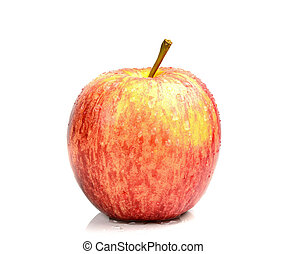 fresco, blanco, manzana