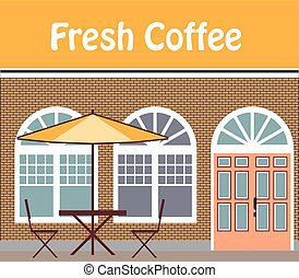 fresco, café, café