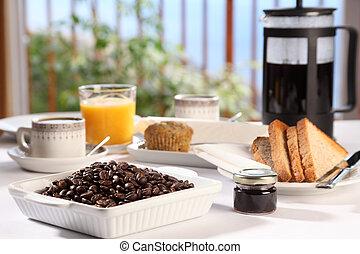 fresco, caffè, colazione, mattina