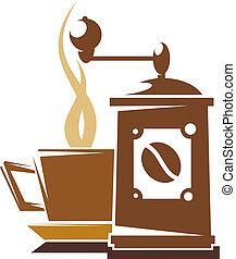 fresco, caffè, pieno, arrosto