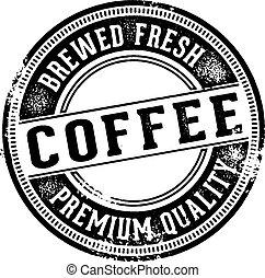 fresco, caffè, vendemmia, segno