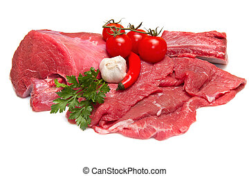 fresco, carne crua