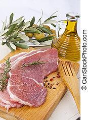 fresco, carne roja, filete de carne de res
