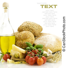 fresco, cena, italiano, ingredientes