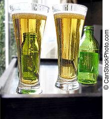 fresco, cerveza