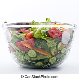 fresco, ciotola, insalata
