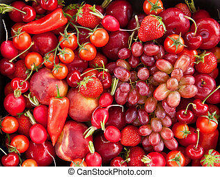 fresco, coloridos, frutas
