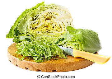 fresco, corte, cabbage.