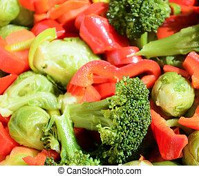 fresco, cotto, verdura