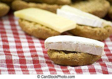 fresco, croccante, in crosta, bread